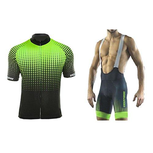 UGLY FROG Maillot Ciclismo Hombres Maillots de Bicicleta Conjunto de Jersey de Manga Corta Top MTB...*