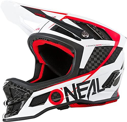 O'NEAL | Casco para Bicicleta de montaña | Forro Dri-Lex, Tecnología de absorción de Impactos IPX | Casco de Carbono IPX de Hoja GM | Adultos | Blanco Negro | Talla S