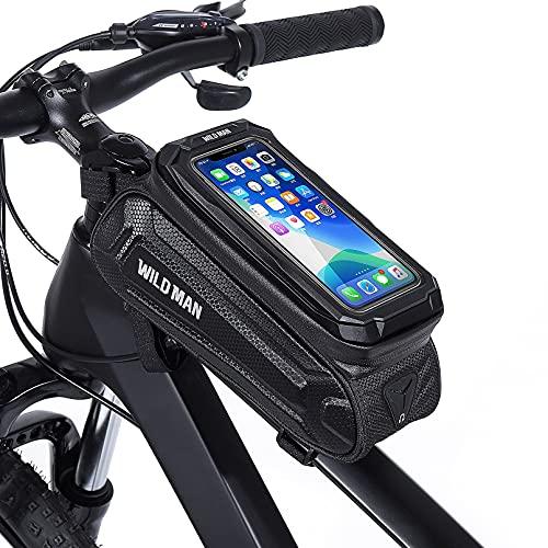 Bolsa Bicicleta de Gran Capacidad para Teléfono Móvil, Bolsa Manillar Bicicleta Montaña...*