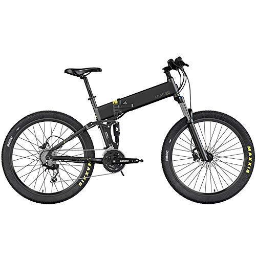 Legend EBIKES ETNA Smart 14Ah Bicicleta eléctrica MTB Plegable, Adultos Unisex, Negro Onyx, 52*
