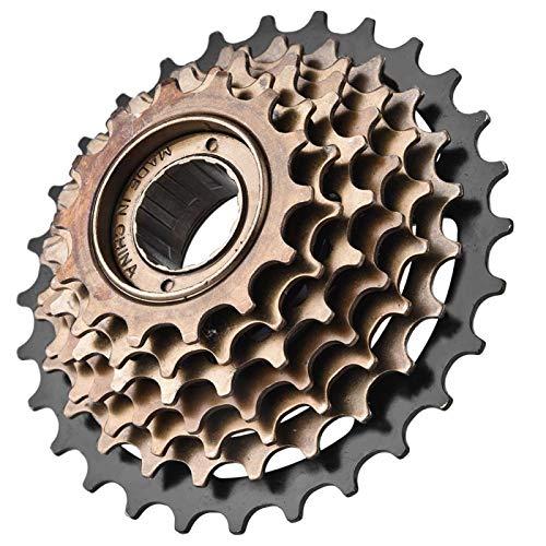Pwshymi Cassette de Bicicleta de 7 velocidades, piñón, Rueda Libre, Accesorio de Repuesto para Bicicleta de Acero Inoxidable