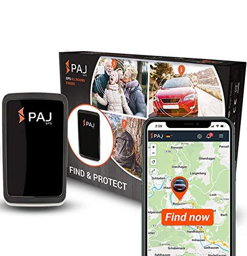 PAJ GPS Allround Finder 2020 -Localizador GPS para Coche, Moto, Personas Mayores, niños y más-Rastreador GPS en Tiempo Real-GPS antirrobo Coche-Marca Alemana- Incluye botón SOS para emergencias