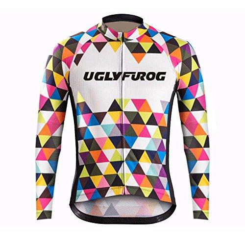 UGLY FROG Nueva Manga Larga del Otoño De Los Hombres Maillots Camisetas De Ciclismo Bicicleta De Carretera Ropa