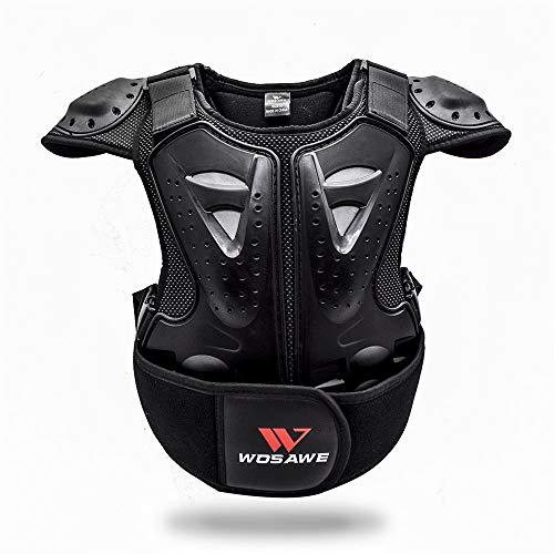 WOSAWE Chaleco de Protector para Niño Niña Deportiva Profesional de Columna Vertebral Armadura del Pecho para Motocicleta Ciclismo Patinaje Esquiar S