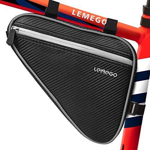 Bolsa Bicicleta Cuadro Impermeable, Bolsa Bicicleta Triangular Bici Ciclismo Reflectante Gran Capacidad para Bicicleta de Carretera Montaña MTB Teléfono Herramientas de Reparación, LEMEGO