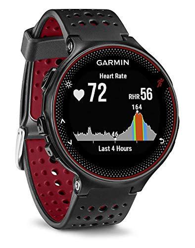 Garmin Forerunner 235 - Reloj con pulsómetro en la muñeca, unisex, color negro y rojo, talla...*