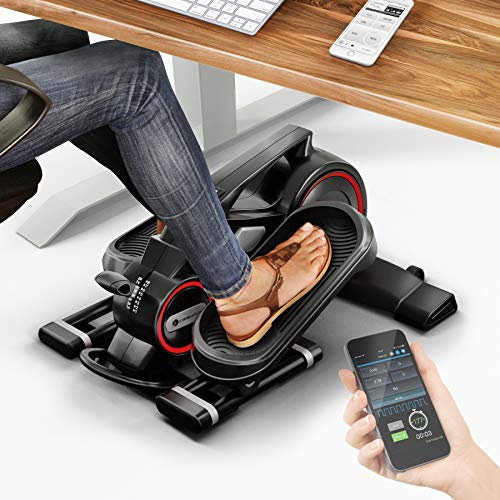 ¡Novedad de feria! Mini bicicleta estática con app - Stepper DFX100 - Elíptica para ejercicio en oficina & casa, salud laboral, no necesario escritorio ajustable en altura - Máquina de piernas