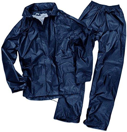 Mil-Tec Traje Impermeable para Hombre, Hombre, Color Azul Marino, tamaño XXXL