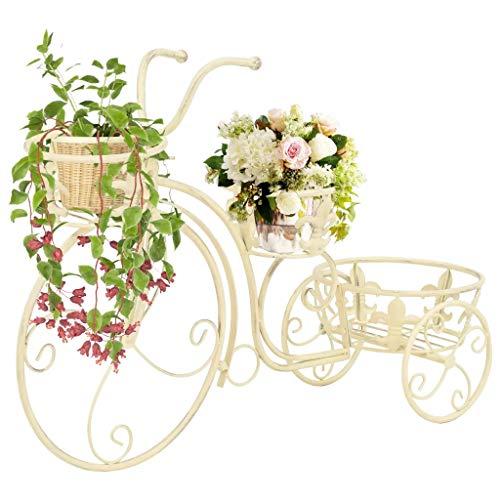 GOTOTOP Soporte de Planta de Metal Forma de Bicicleta Estantería Decorativa para Macetas Soporte de...*