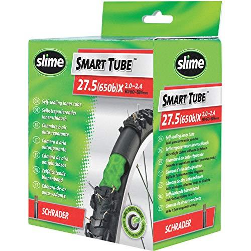 Slime 30077 Cámara Interior de Bicicleta con Sellante de Pinchazos Slime, Sellado Autónomo, Prevenir y Reparar, Válvula Americana, 27.5 (650b) x 2.0-2.4 50/60-584mm