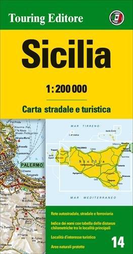 Sicilia. Mapa De Carreteras Impermeable. Touring Club Italiano. Escala 1:200.000 (Carte regionali...*