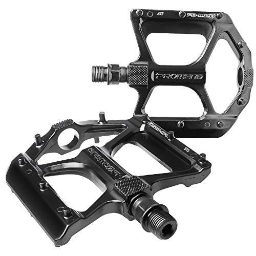 Pedales de bicicleta de montaña duraderos con aleación de aluminio ultraligero, resistentes al agua y al polvo, pedales de bicicleta de carretera para doble tornillo de 9/16 pulgadas