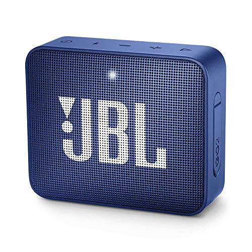 JBL GO 2 Altavoz inalámbrico portátil con Bluetooth, resistente al agua IPX7, hasta 5 h de reproducción con sonido de alta fidelidad, azul
