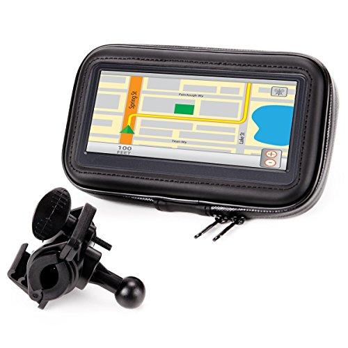 USA Gear GPS Bicicleta Soporte Movil Moto con Manillar Funda Táctil Impermeable con Visualización...*
