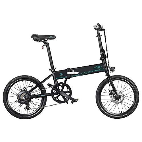 Bicicleta eléctrica Plegable para Adultos FIIDO D4S, Bicicleta de montaña para Hombre de 20' con Motor de 250 W, batería de 36V 10,4Ah (Negro)