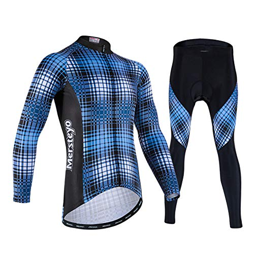 TTPF Conjunto de Manga Larga de Ciclismo Jersey Chaqueta de Bicicleta para Hombre Camisa de Malla...*