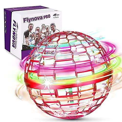 FLYNOVA PRO Fly orb Juguetes,3 Colores Mini Drones,Con 360 ° Spinner UFO Volador,Lncorporado...*