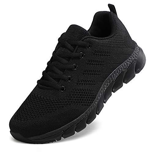 ZPAWDH Zapatillas Deportivas de Mujer Running Zapatos para Correr Gimnasio Calzado(All Black.39EU