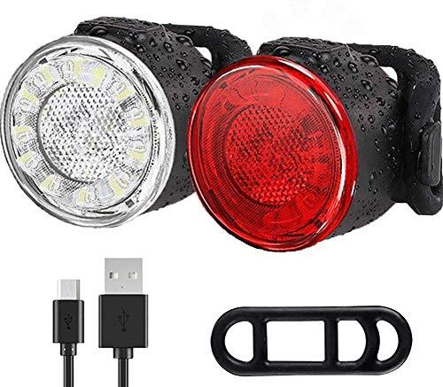 Luces Bicicleta,Recargable por USB Luz Bicicleta, 6 Modos de Brillo-Fácil de Instalar y...*
