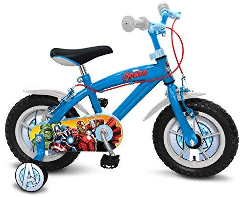 Stamp-AV299018NBA Avengers Bicicleta, Color Azul, 12 Pulgadas (AV299018NBA)