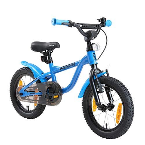 LÖWENRAD Bicicleta Infantil para niños y niñas a Partir de 3-4 años | Bici 14' Pulgadas con Frenos | Azul