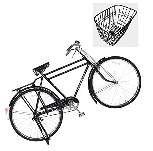 Wxnnx Bicicleta para Adultos Cruiser híbrido de Estilo Retro, Marco de Acero de una Sola Velocidad...*
