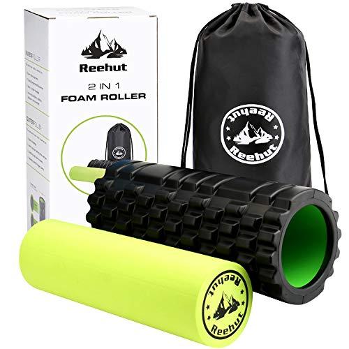 REEHUT Fitness Rodillo de Espuma 2-en-1 para Puntos Desencadenantes y Masaje para Músculos...*