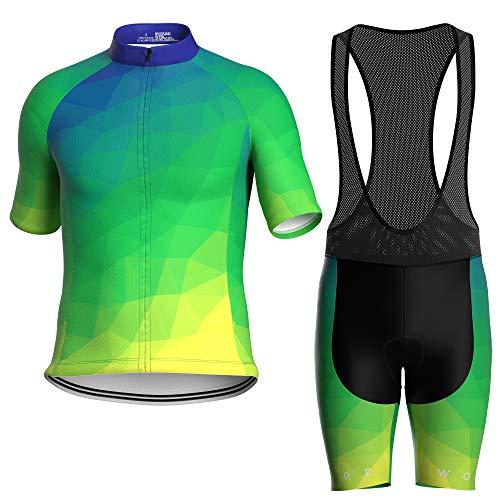 WOLFIRE WF Ropa Ciclismo Hombre, Traje Ciclismo Hombre, con 12D Gel Pad Bib Acolchado, Maillot...*