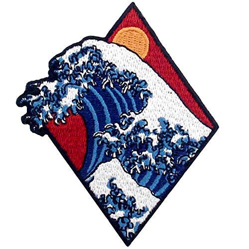 Parche termoadhesivo para la ropa, diseño de Tsunami Gran ola*