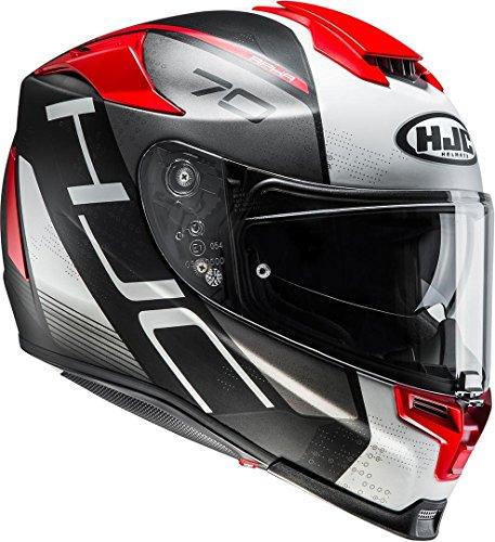 HJC Helmets 2430_25628 HJC RPHA70 Vias Mc1SF M, Hombre, Rojo/Blanco, Medium