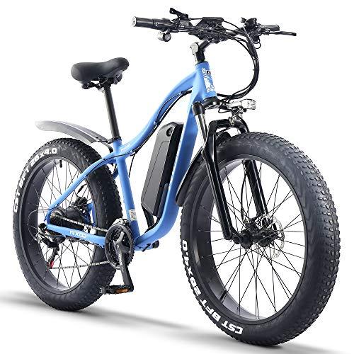 ride66 Bicicleta Electrica de Montaña para Adulto Hombre Mujer MTB 26