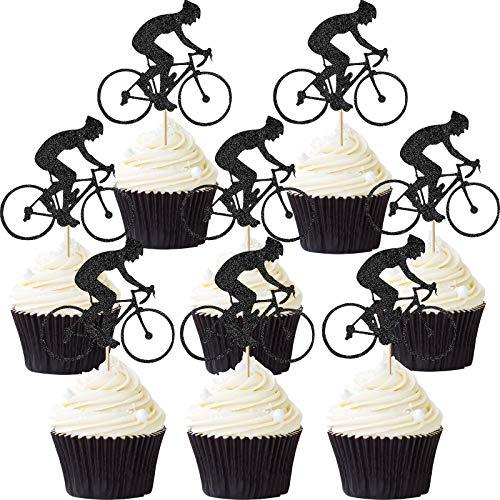 72 Piezas Toppers de Magdalena de Bicicleta Toppers de Pastel de Bicicleta Deporte Decoración de...*