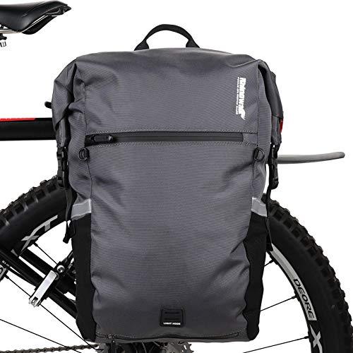 Rhinowalk 24L Bolsa Alforja Trasera para Bicicleta, Multifunción Bolsa Bicicleta para...*