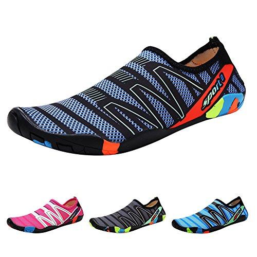 Padgene Zapatillas de Agua de Material Sintético Unisex Adulto Nuevos Zpatos de Ntación/Pies Atideslizantes Beach Zapatos/de Bceo Ocio Outdoor