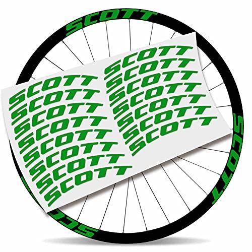 Kit Pegatinas Pegatinas Stickers LLANTA Scott 29' BTT MTB (Verde Asturias)