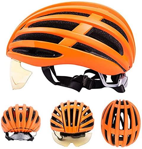 Casco Bicicleta Gafas integradas de Alta Gama para Montar Casco Casco Casco Dot CPSC y Certificado...*