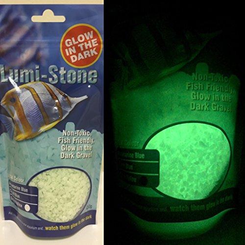 Grava resplandeciente acuática, lumi-piedra, 250 G verde