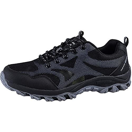 KUXUAN Calzado de Ciclismo para Hombre, Calzado para Bicicleta de Carretera Calzado para Bicicleta de Montaña Calzado para Bicicleta MTB, Zapatos para Correr Casuales Antideslizantes,Black-37
