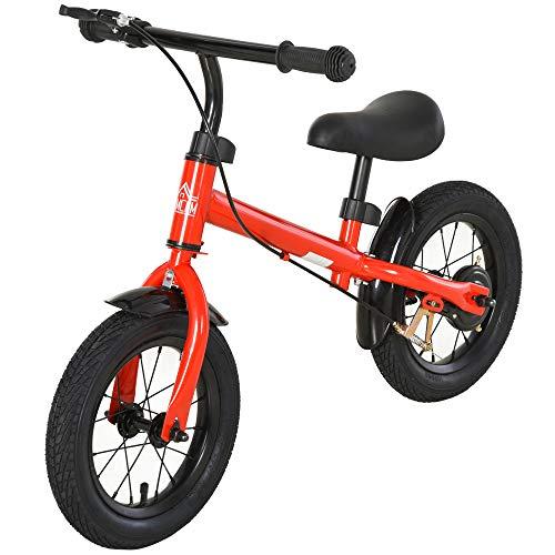 HOMCOM Bicicleta sin Pedales Altura Ajustable con Llantas de Goma Inflables para Niños Mayores de 3...*