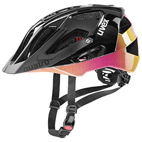 uvex Quatro Casco de Bicicleta, Unisex-Adult, Future Black, 52-57 cm
