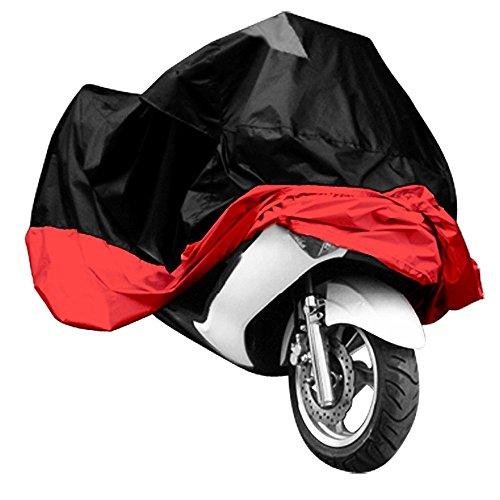 Dcolor Funda protectora para moto ATV tamaño XXXL rojo y negro
