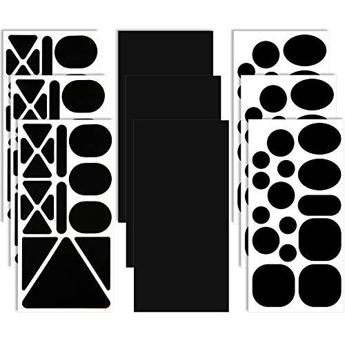9 Hojas Parches de Reparación de Nylon Parche Negro Autoadhesivo Parche de Ropa de Tela de...*