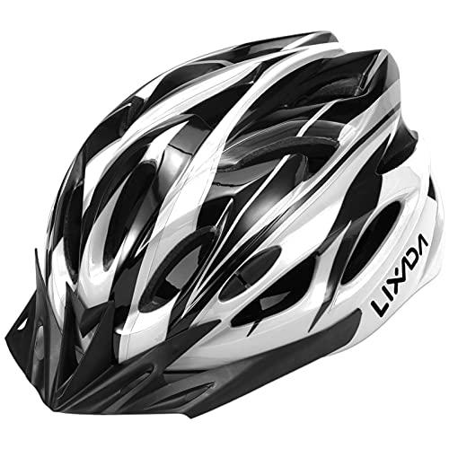 Lixada Casco de Bicicleta Ligero con Visera y Luz LED en Molde Casco Protector para MTB Bicicleta de...*