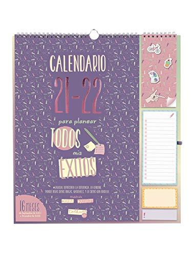 Finocam Calendario de Pared 2021 2022 Mes vista Septiembre 2021, Diciembre 2022 16 meses 340x380 Talkual Plus 16 meses Español