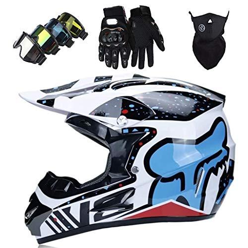 WAHA Casco Motocross Niño,Casco de Motocross de Integrales,Casco de Moto,Casco de MTB de...*