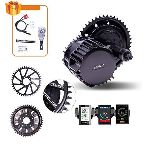 DERUIZ BAFANG Mid Drive 1000 W BBSHD 48 V 52 V BBS03 Bicicleta eléctrica Kit de conversión 8fun Ebike Motor Kits sistema para MTB Road City bicicleta plegable