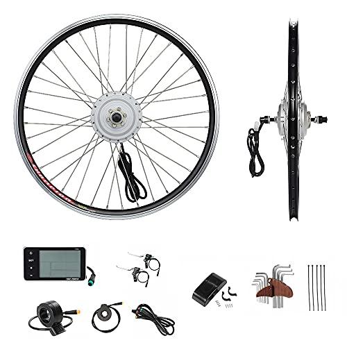 YOSE POWER E-Bike Conversion Kit 36V250W24'' Elektrofahrräder Umbausatz rueda delantera 24 aduanas Frontwheel Electric Bike Hub Motor con LCD Display MEHRWEG
