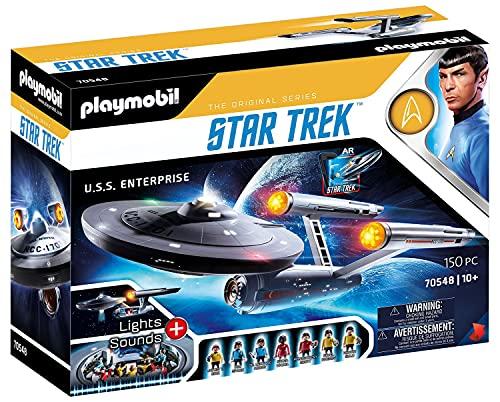 PLAYMOBIL Star Trek 70548 U.S.S. Enterprise NCC-1701, Con aplicación AR, efectos de luz y sonidos...*
