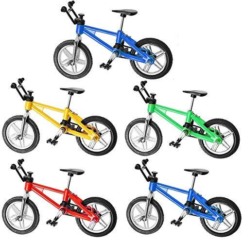 BESLIME Dedo Bikes BMX, mini bicicleta juguete aleación dedo bicicleta montaña, mini modelo, adornos de bicicleta modelo bola Gadgets - 5 piezas
