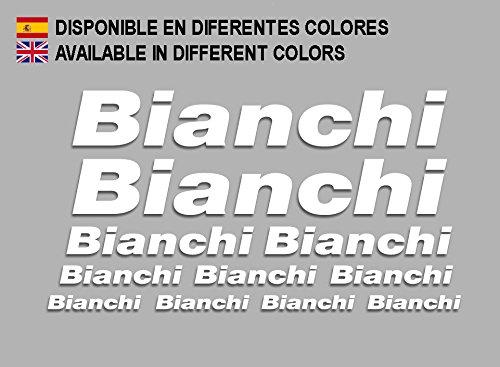 Ecoshirt CP-J2OO-S1A4 Pegatinas Bianchi F179 Vinilo Adesivi Decal Aufkleber Клей MTB Stickers Bike, Blanco